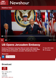 BBC WS radio's 'Newshour' and the split screen – part three