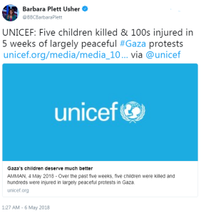 BBC journalist Tweets inaccurate portrayal of Gaza riots