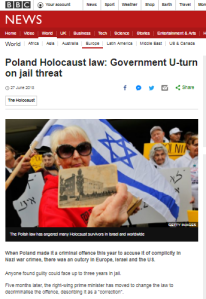 BBC News website omits key information in Polish Holocaust law report