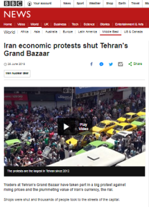 BBC News report on Iran protests does not tell all