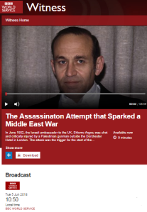 BBC WS history programme claims Israel started the Lebanese civil war
