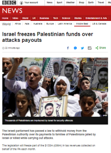BBC News ignores PA reactions to moves relating to terror payments