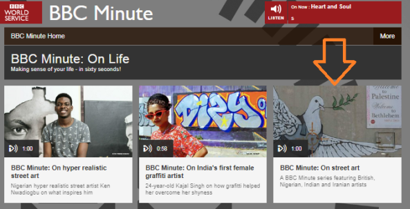 How did BBC Minute illustrate a series on street art in India, Nigeria and Iran?