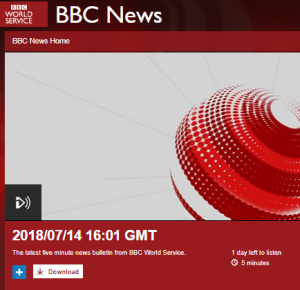 An overview of BBC WS July 14 news bulletins