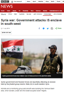BBC News cuts out the infiltration part of Syrian drone infiltration incident