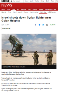 BBC News report on Syrian plane interception won't say where it happened