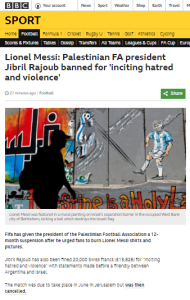 BBC Sport report amplifies bizarre Palestinian FA claims