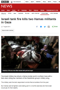 BBC's sanitisation of deliberate Gaza border violence continues