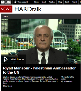 Palestinian envoy's falsehoods go unchallenged on BBC's 'Hardtalk' – part two