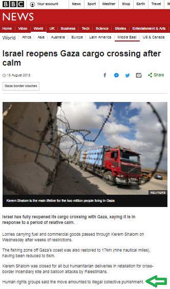 The glaring omission in the BBC's portrayal of Gaza truce