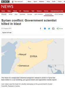 BBC News still promoting false balance on Syrian regime chemical weapons