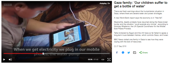 Banal BBC News report from the Gaza Strip fails to inform
