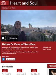 BBC WS radio programme on Hebron omits vital background