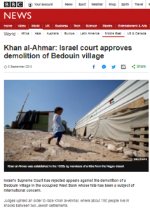 Omission and imbalance in BBC report on 'Bedouin village'