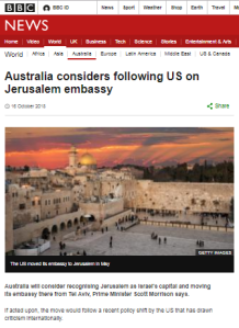 BBC framing of Jerusalem embassy stories continues