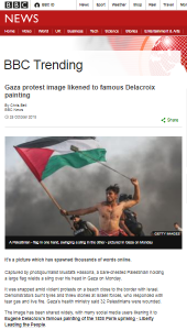 Romanticising violence on the BBC News website