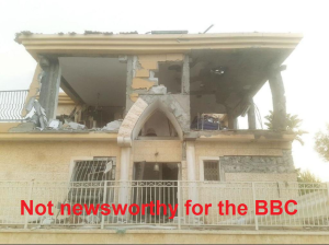 Rocket attack on Be'er Sheva home ignored by BBC