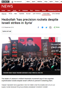 BBC report on Hizballah rockets omits relevant background