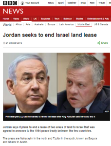 Omissions in BBC account of background to Jordan land lease story