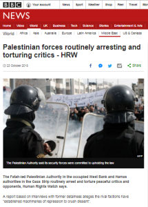 A second hand BBC News report on Palestinian torture