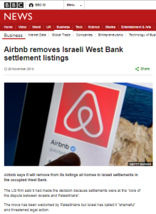 BBC News website framing of the Airbnb listings story
