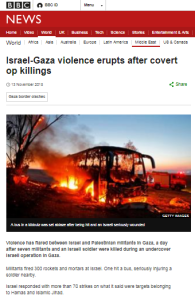 BBC News coverage of terrorism in Israel – November 2018