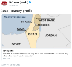 Amendments made to the BBC's Israel profile
