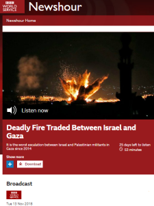 Reviewing BBC WS 'Newshour' coverage of events in Israel and Gaza – part 2