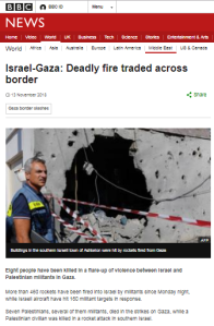 False equivalence in BBC News report on Gaza rocket attacks