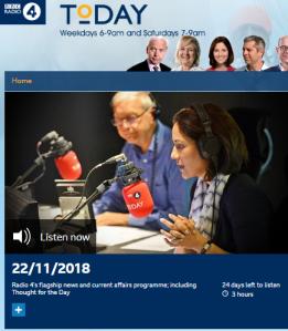 BBC R4's 'Today' highlights Quaker hypocrisy but still fails listeners