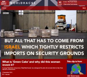 More context-free BBC portrayal of Gaza construction imports