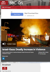 BBC WS 'OS' presents an inverted portrayal of Gaza rocket attacks