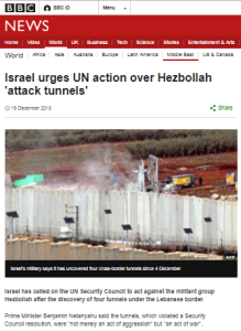 More lazy BBC reporting on Hizballah's tunnels