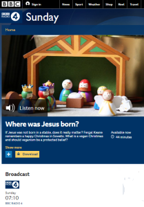 Yolande Knell's annual politicisation of Christmas on Radio 4