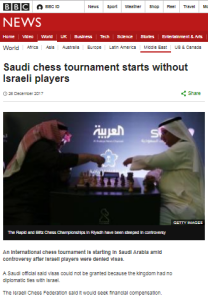 BBC ignores World Chess Federation's anti-discrimination efforts