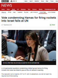 Superficial BBC News report on UN General Assembly votes