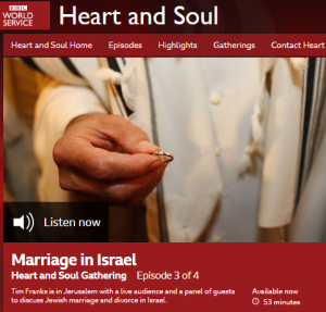 BBC WS 'Heart and Soul' discusses internal Israeli affairs