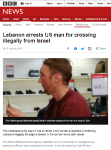 Summary of BBC News website portrayal of Israel and the Palestinians – January 2019