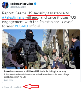 The story about US aid to Palestinians that the BBC chose not to report