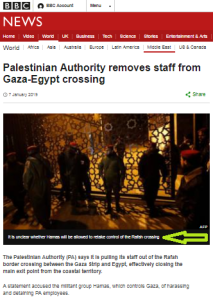 BBC News report on Rafah crossing omits information