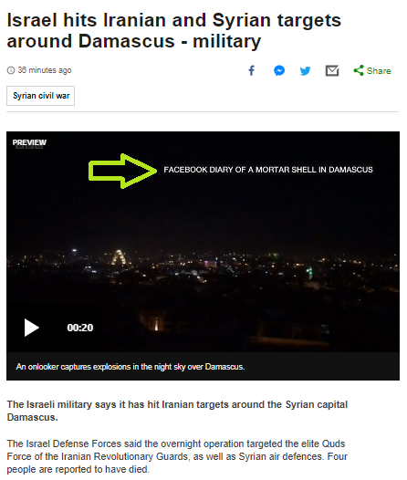 Slapdash BBC News reporting of events in northern Israel and Syria