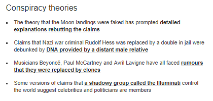 The BBC examines conspiracy theories – but not its own