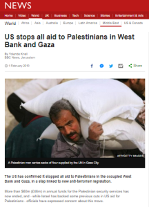 Summary of BBC News website portrayal of Israel and the Palestinians – February 2019