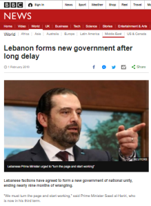 BBC News gives anodyne portrayal of new Lebanese government