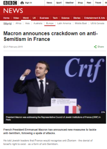 BBC report on antisemitism in France marred by its own record
