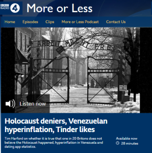 BBC Radio 4's statistics programme on Holocaust denial in the UK