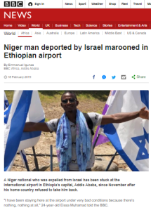 BBC reframes a story about a man denied entry by his own country