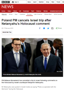 BBC News turns media blunder into story about Israeli PM's 'comment'
