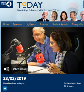 BBC R4 'Today' listeners hear an esoteric item on antisemitism