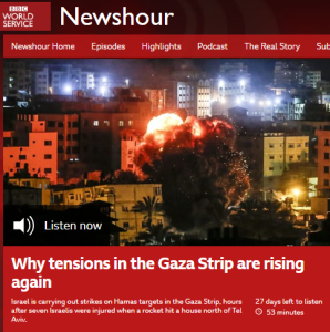 Inaccurate and misleading BBC WS radio report on Hamas rocket attack